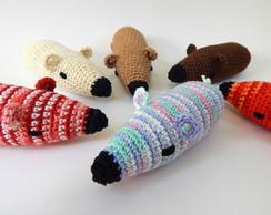 Brinquedo para gato ratinhos coloridos