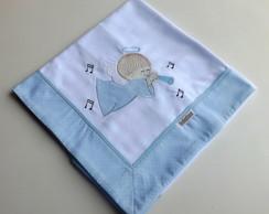 Cueiro Bordado Anjinho (Azul)