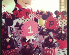 Topper de cupcake Minnie