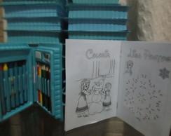 Kit escolar 18 p�s + mini kit pintura