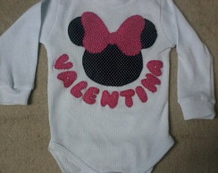 Body ou camiseta Minnie