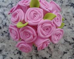 Mini Vasinho Rosas em E.V.A