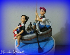 Topo de bolo - Pescadores