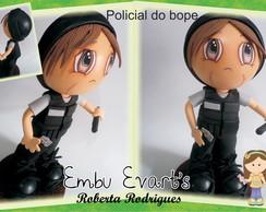 boneco em eva policial
