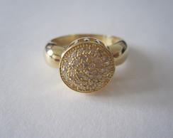 Anel diamantes em ouro 18k