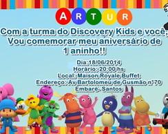 CONVITE TURMA DO DISCOVERY KIDS