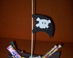 Centro de mesa - Barco Pirata