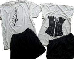 Kit namorados gravata + corset