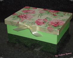 Caixa mdf base tinta tampa com tecido