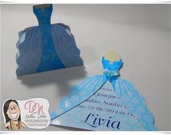 Convite + Caixinha Vestido Elsa
