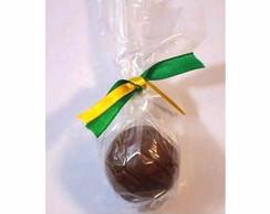 Bolinha de futebol de chocolate