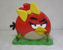 ANGRY BIRDS - Personagem semi esculpido