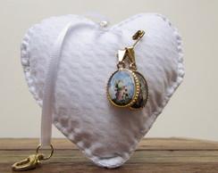 Chaveiro Cora��o Perfumado Medalha