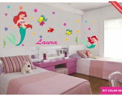 Kit Infantil Princesa Ariel -Brinde Nome