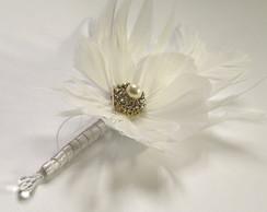 Flor na lapela para noivo