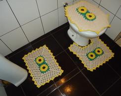 Jogo de Banheiro Girassol 3 Pe�as