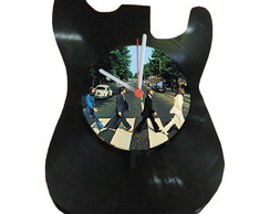 Rel�gio Guitarra Beatles - vinil