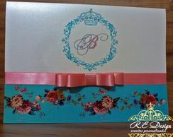 Convites 15 anos Royal Happy Flowers
