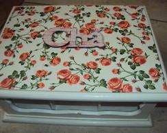 Caixa de ch�- Rosas Proven�al