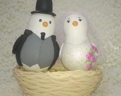 Pombinhos topo de bolo personalizado