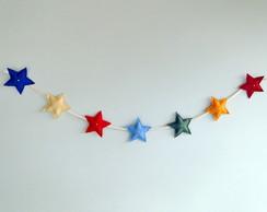 Varal de Estrelas Feltro LUXO Decora��o
