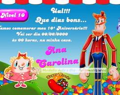Convite Candy Crush