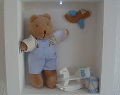 (MO 0245) Quadro maternidade urso c/led