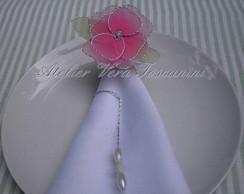 Porta_guardanapo flor de meia de seda