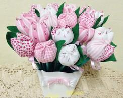 Promo��o Cachep� com 30 tulipas no l�pis