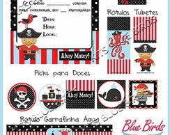 Kit Papelaria Piratas