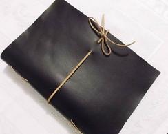 Caderno com capa flex�vel preto
