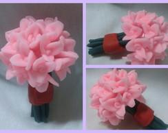 0117-Mini Buque de Flores Rosa Claro