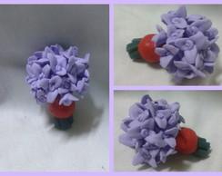 0118-Mini Buque de Flores Lil�s