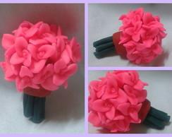 0119-Mini Buque de Flores Rosa Choque