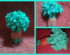 0123-Mini Buque de Flores Verde Claro