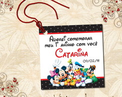 Tag Quadradinha Turma do Mickey - 00182