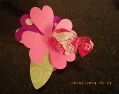 Enfeite flor para pirulito frete gratis