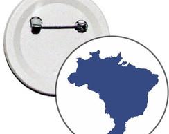 Boton 4,5cm Mapa Brasil