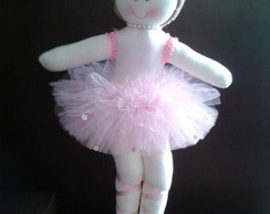 Boneca Bailarina De Pano