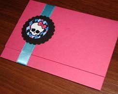 Convite Personalizado Monster High Pink