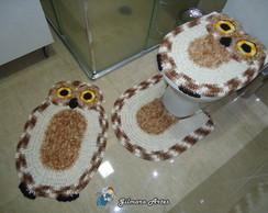 Jogo de banheiro - Coruja BNH 049