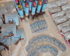 Super Kit Festa Ursinho Marrom e Azul