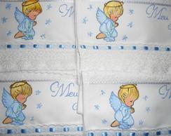 Toalha para Batizado Anjinho Azul Beb�