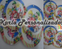 Adesivo redondo Super Mario