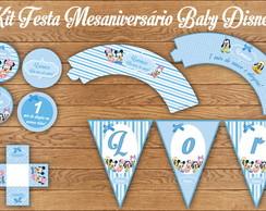 Kit Festa Baby Disney Mesaniversario Lux