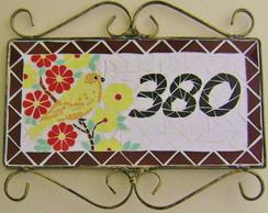 Placa de N�mero em mosaico