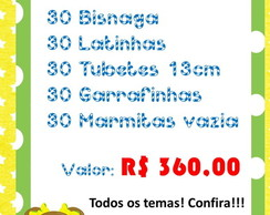 Kit Festa Personalizada 180 Produtos