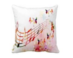 Capa de Almofada Musical borboletas
