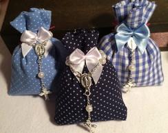 Sach� perfumado com mini ter�o - Azul