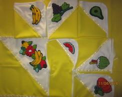 Conjunto de cozinha amarelo 7 pe�as